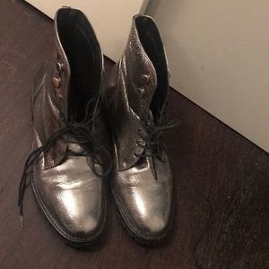 Kenneth Cole Metallic Combat Boots